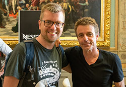 Anton on the left with Harry Gregson-Williams