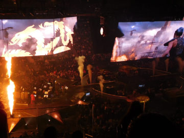 Fire and dragons during the concert
